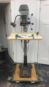 "Delta 17"" Drill Press On Rolling Cart"