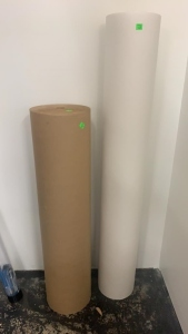"2 Rolls Of Paper 36"" Brown And 48"" White"