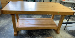 Wood Working Table Built In Vise 75x41x36,can Be