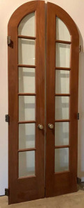 Set Of 6 Pane Arched French Doors Set Measures