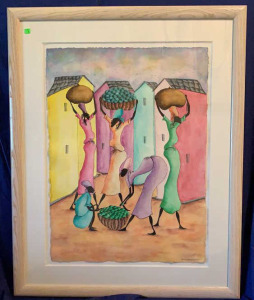 Martin O Dorce City Market  Water Color
