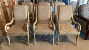 6 Upholstered Dining Chairs 23x26x40 With 19""