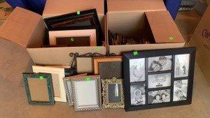 2 Boxes Of Empty Photo Frames Largest Is 16x14