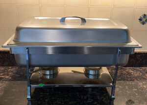 Chafing Dish 22x14x10. Pan Is 2.5 Deep, And Lid
