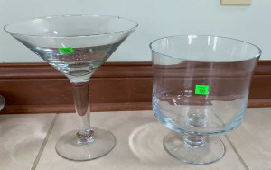 "Martini Glass 10"" Tall, And Trifle Glass 8"" Tall"
